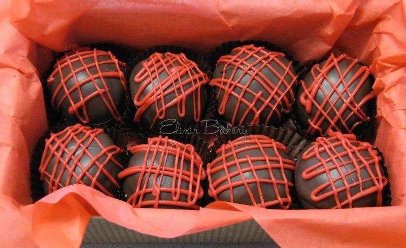 Chocolate Strawberry Cake Balls