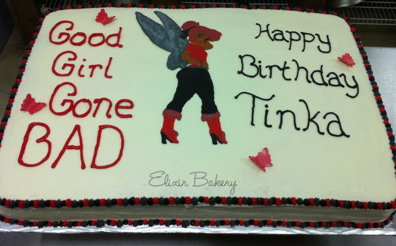 Bad Tinkerbell Cake