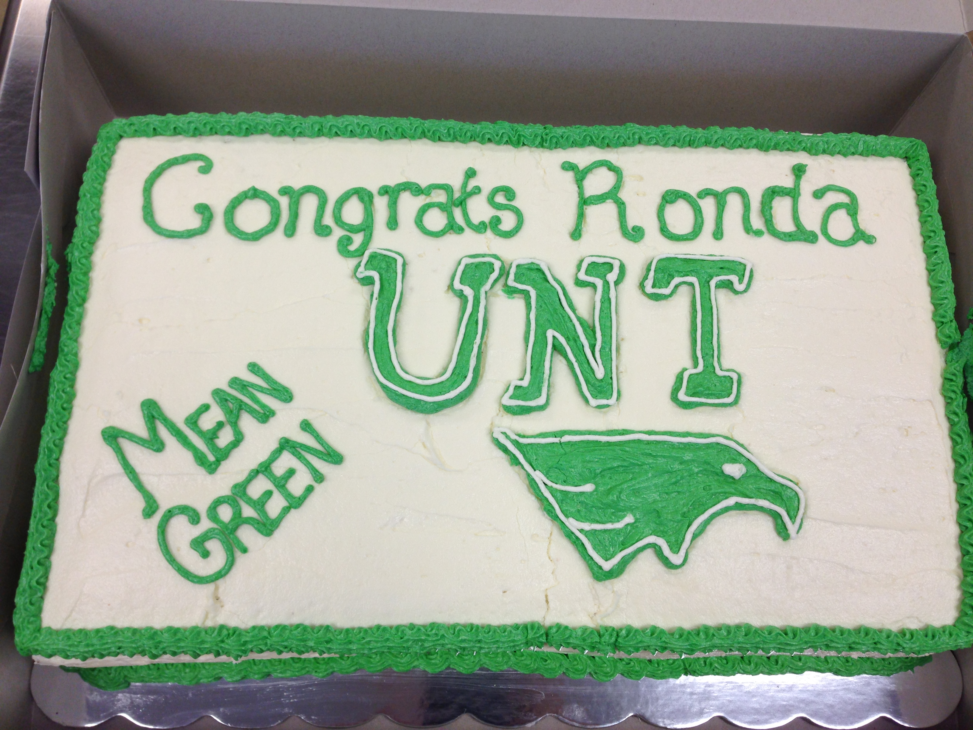 UNT Cake