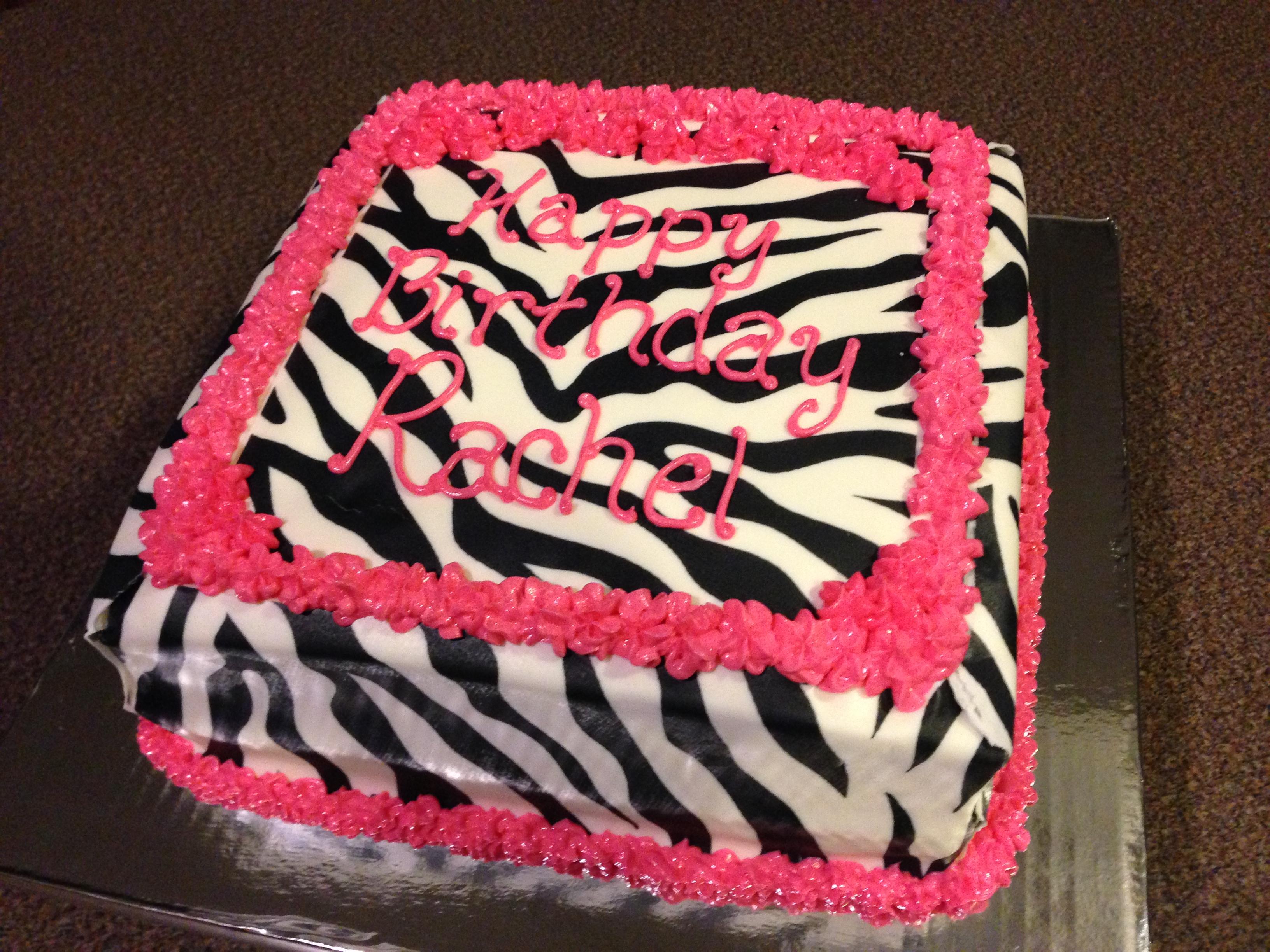 Hot Pink Tiger Cake