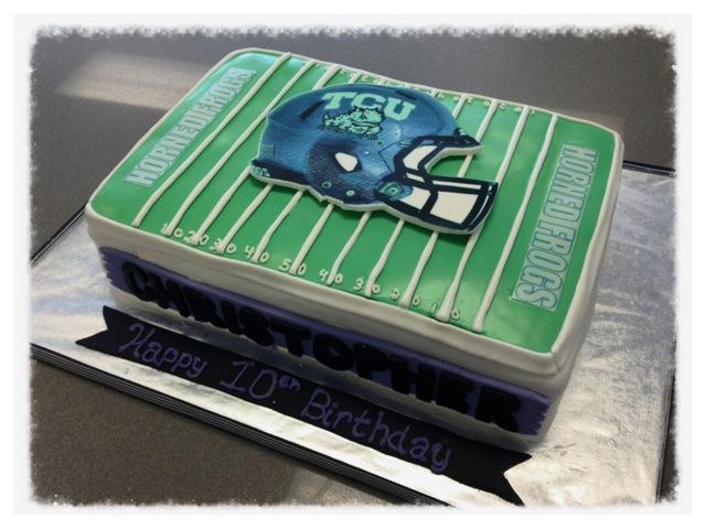 TCU Football Cake