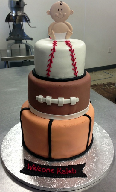 Sports Baby Shower Cake